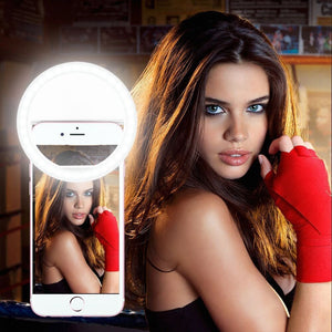 Mobile LED Selfie Ring Cover For iPhone 5s 6S Samsung Android Phone Light Beauty Case