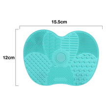 Load image into Gallery viewer, Silicone Makeup brush cleaner pad with Suction Cups