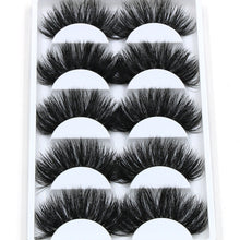 Load image into Gallery viewer, 5x pairs Thick Long FAUX Mink Eye Lashes