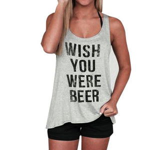 Funny Wish you were BEER Womens T-Shirt