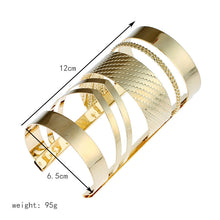 Load image into Gallery viewer, Find Me 2017 Fashion Vintage Curved Ethnic Cuff Bracelet Bohemian Statement Bangles Hollow Couple Bracelets Bangle Women Jewelry