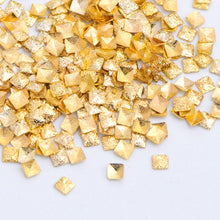 Load image into Gallery viewer, 1 Box Nail Art Metal Gold Silver Multi-shape Chains Round Triangle Square Studs Glitter 3D Charms Spangles Decoration Tool JI085