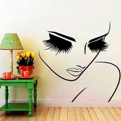 LARGE Wall Decal for beauty salon, hair dresser, makeup artist or beauty room decor