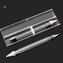 Load image into Gallery viewer, 1pcs Dual-ended BLING Rhinestone Picker Wax Pencil CrystalNAIL ART TOOL