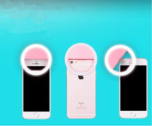 Load image into Gallery viewer, Mobile LED Selfie Ring Cover For iPhone 5s 6S Samsung Android Phone Light Beauty Case