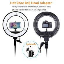 Load image into Gallery viewer, LED Ring Light w/ Stand Dimmable 5500K Light Kit for BEAUTY Camera, Smartphone, YouTube, Photography, Video