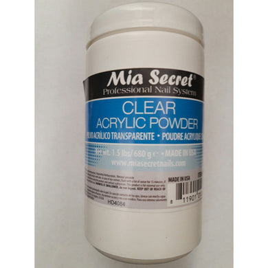 Mia Secret Clear Acrylic Powder 1.5 lbs Acrilico claro 24oz