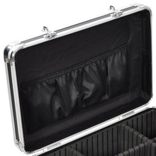 Load image into Gallery viewer, BLACK Rolling Makeup Case with Drawers
