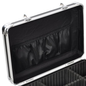 BLACK Rolling Makeup Case with Drawers