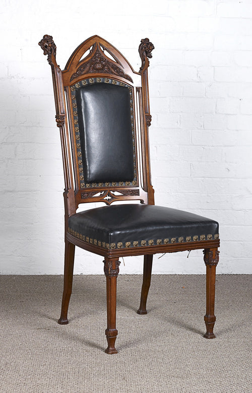 German walnut Gothic style side Chair