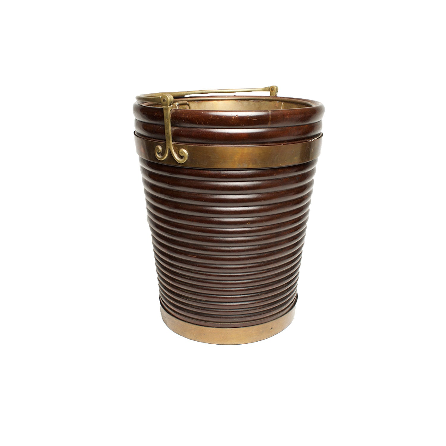 brass bound peat Bucket