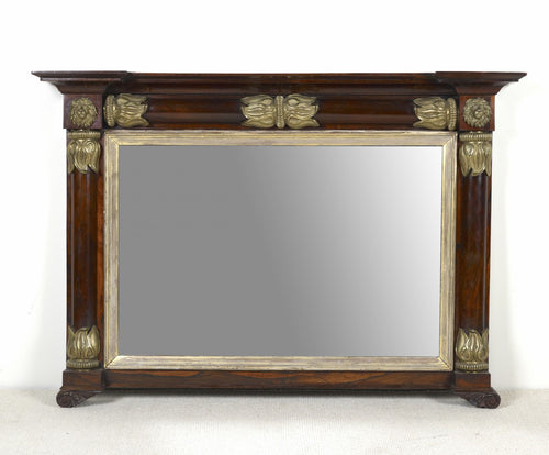 George IV Rosewood over-mantel Mirror