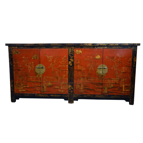 Pair of Chinese Lacquer Sideboards