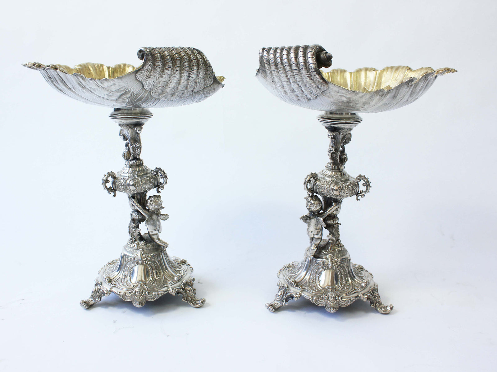 Silver and silver gilt Comports by Posen