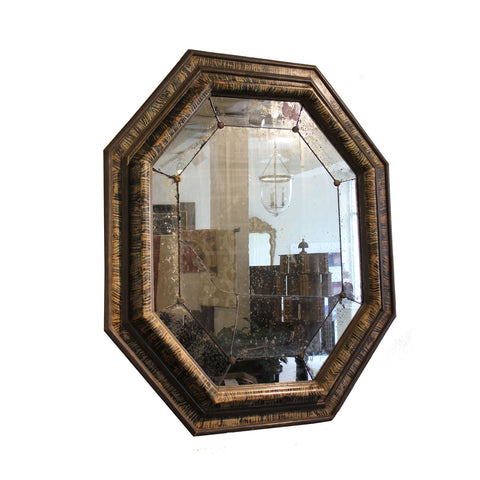 A George II style Walnut and Giltwood Mirror
