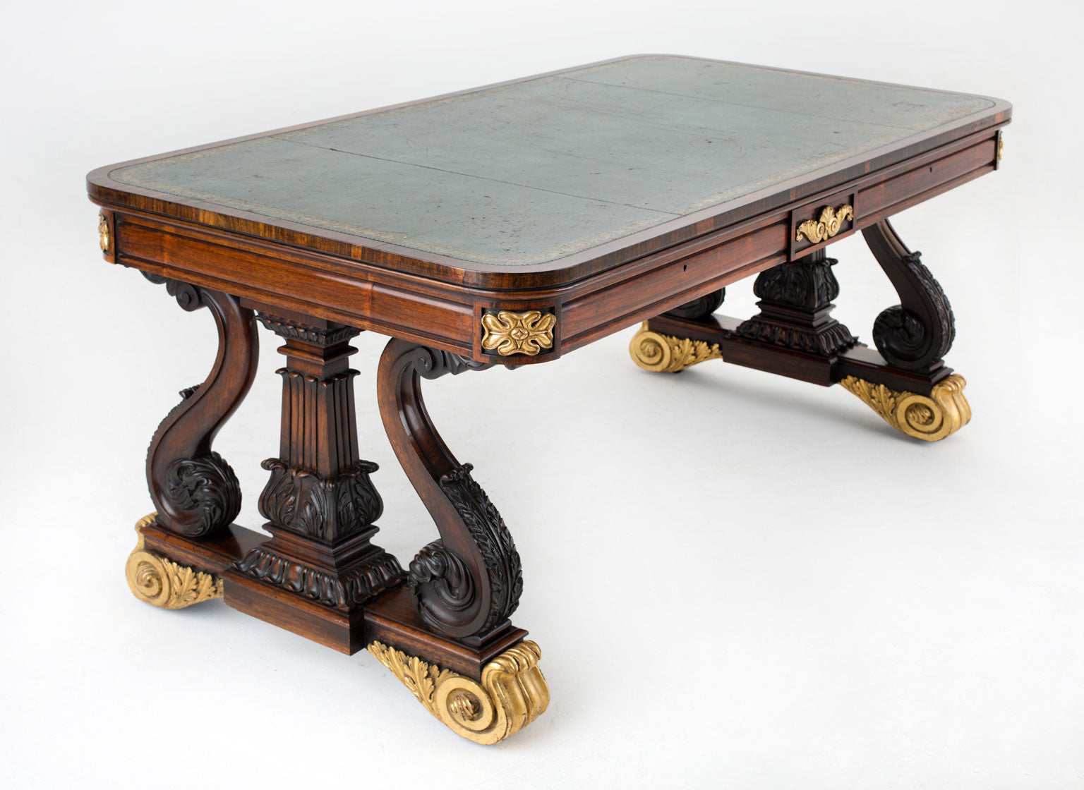 George IV Brazilian Rosewood Library Table