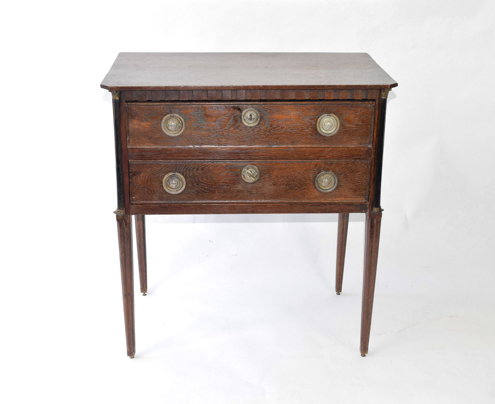 oak bedside Cabinet in Louis XVI style