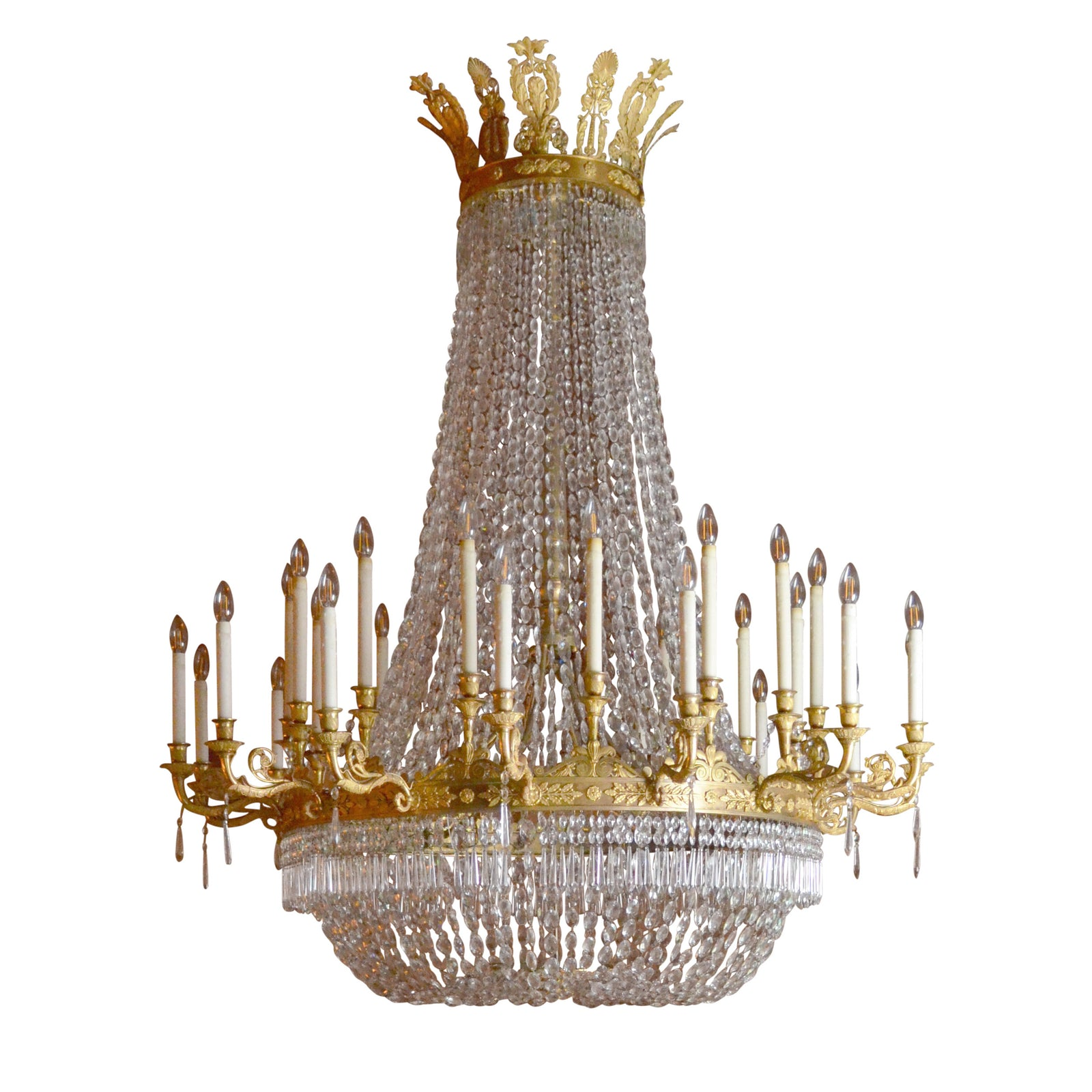 Large Empire Period Ormolu Chandelier
