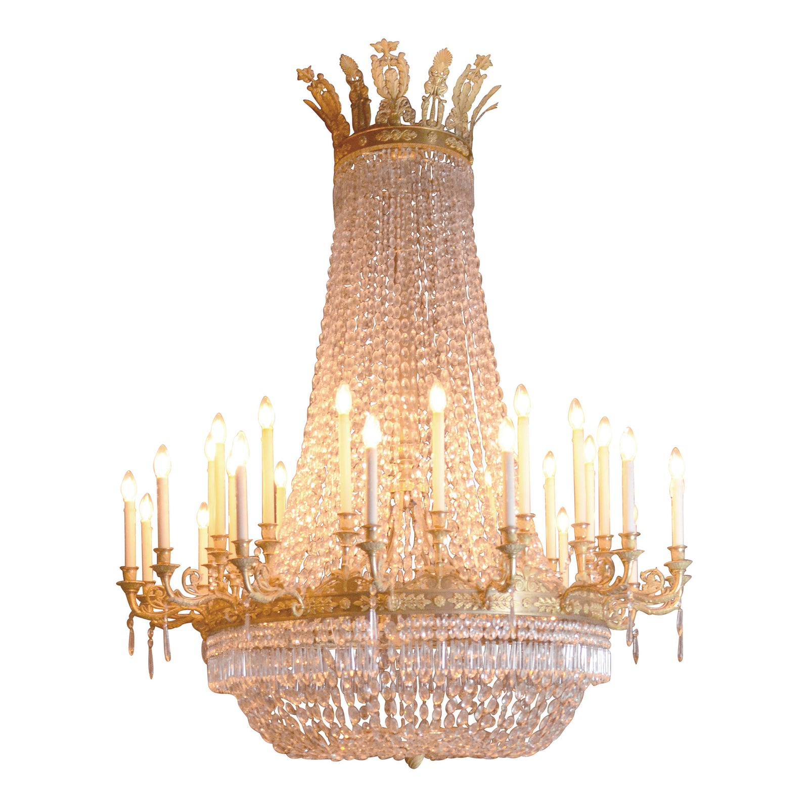 Large French Empire Period Ormolu Chandelier