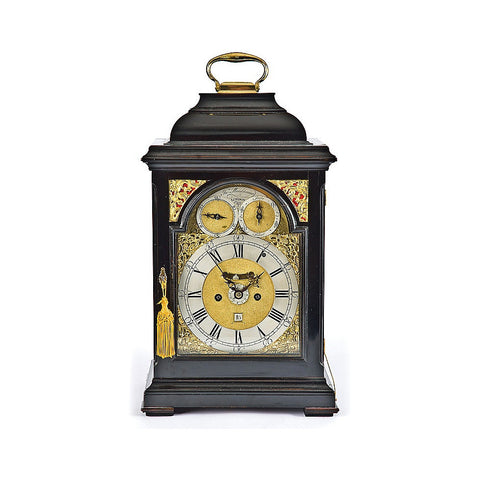 A Fine and rare George III gilt brass-mounted Ebonised quarter chiming bracket clock by John Ellicott (London, 1706-1772)
