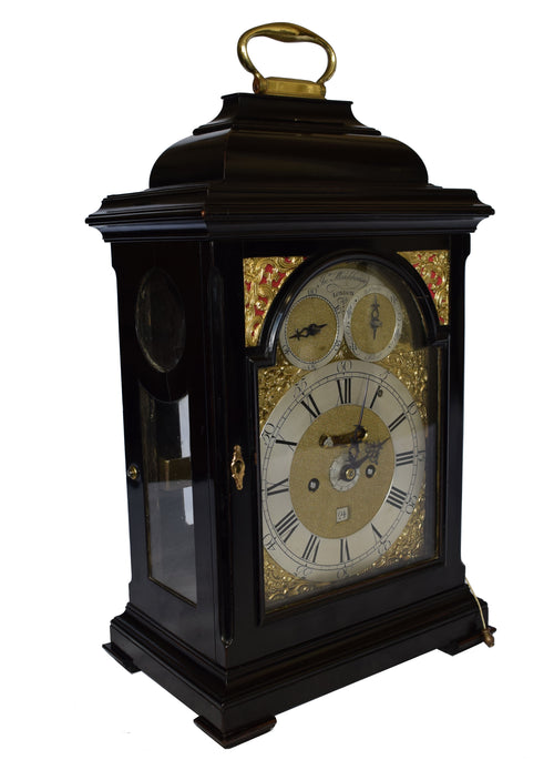 18th Century Ebonised Bracket Clock By John Monkhouse