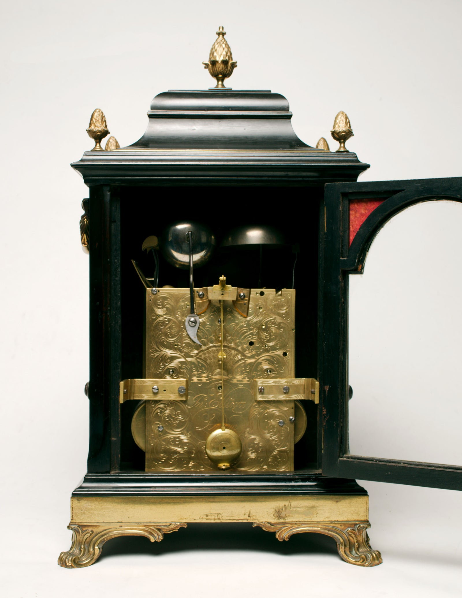 bracket clock by John Ellicott