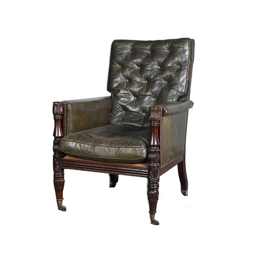 William IV oak Bergere Chair