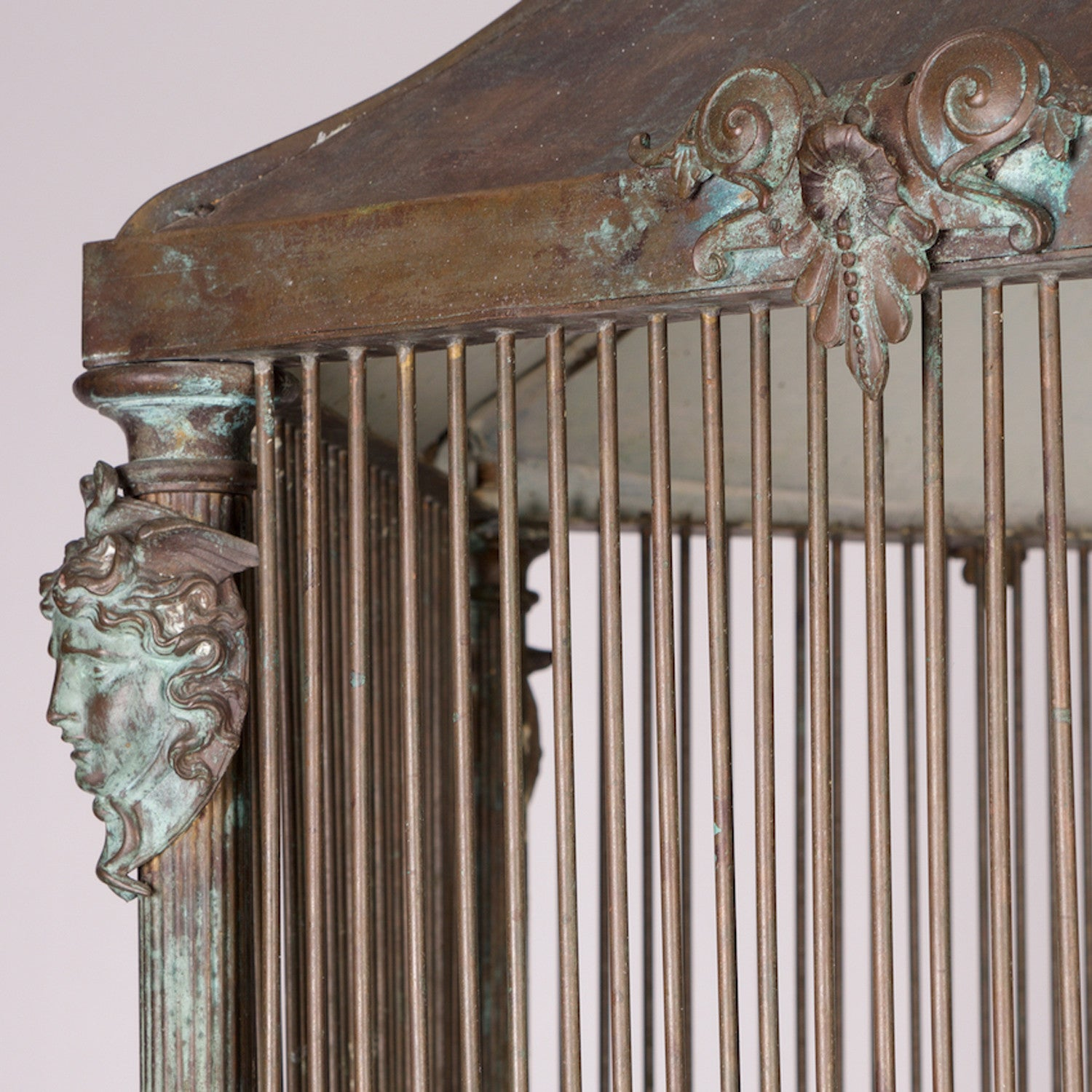 Italian Patinated Bronze Bird Cage