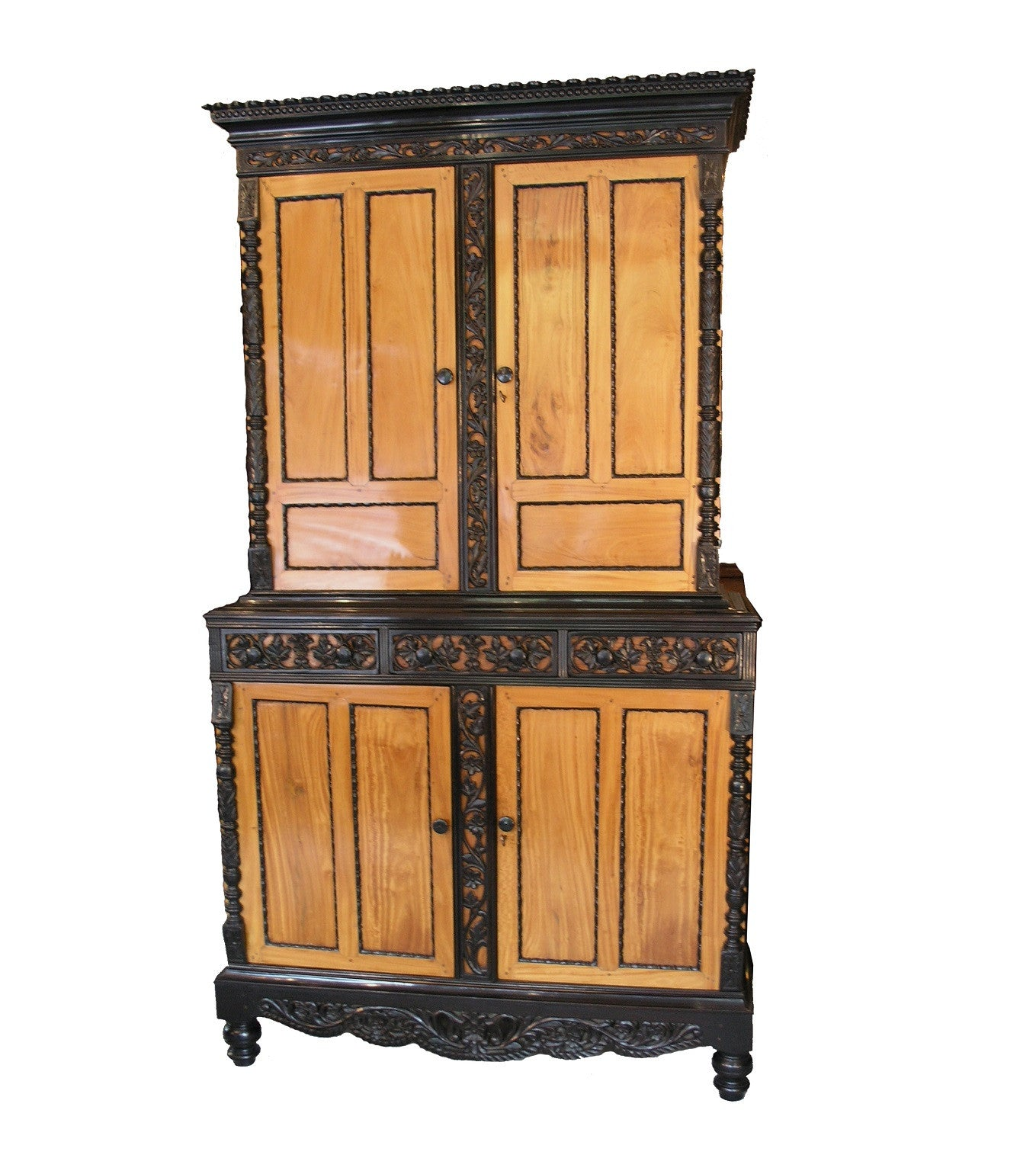 Anglo Indian 4 door Linen Press / Cabinet