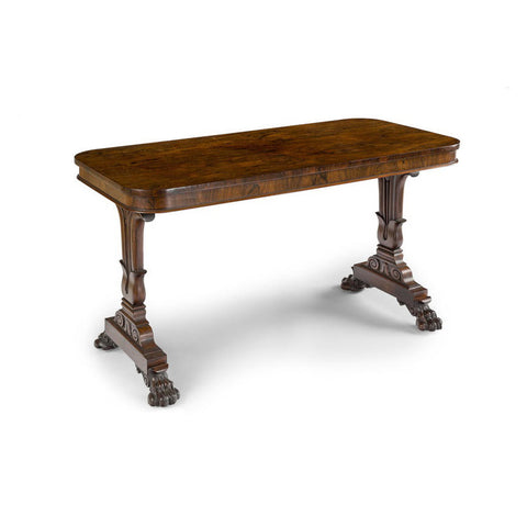 An Important English George IV Brazilian Rosewood Library Table