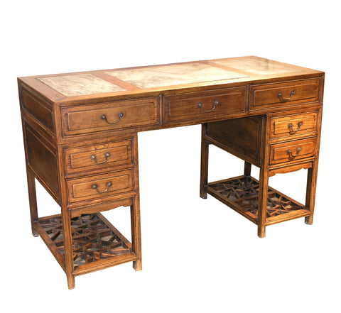 A Gothic Revival Oak Partner Desk