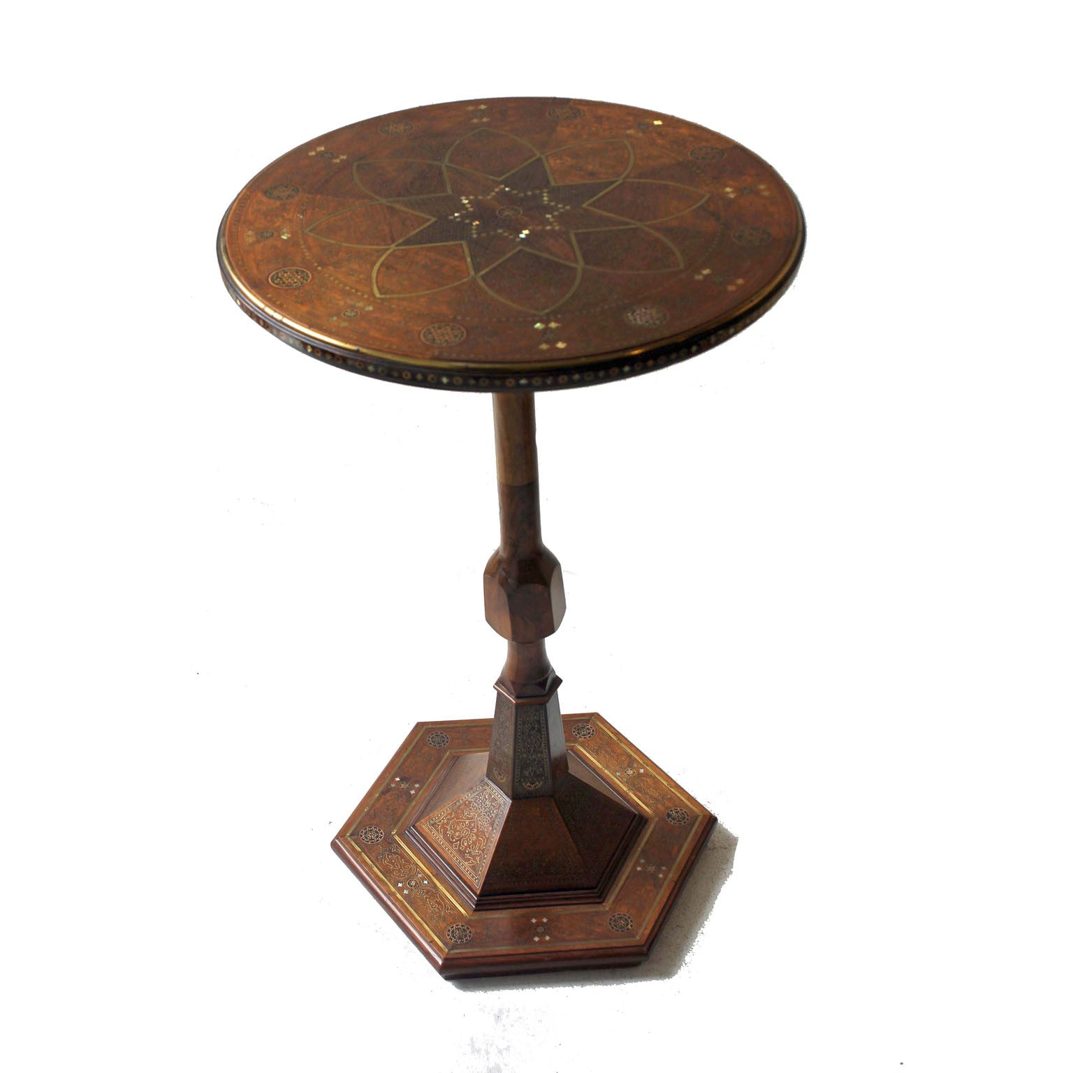 Moorish pedestal Side Table