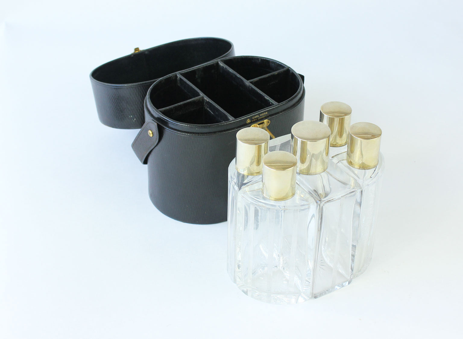 set of 6 boxed Cologne Bottles