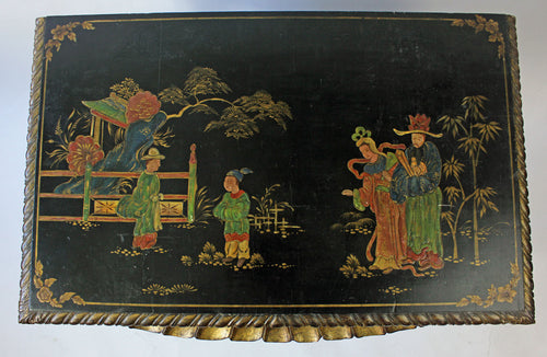 William IV polychrome, lacquer and gilt Chinoiserie Side Table