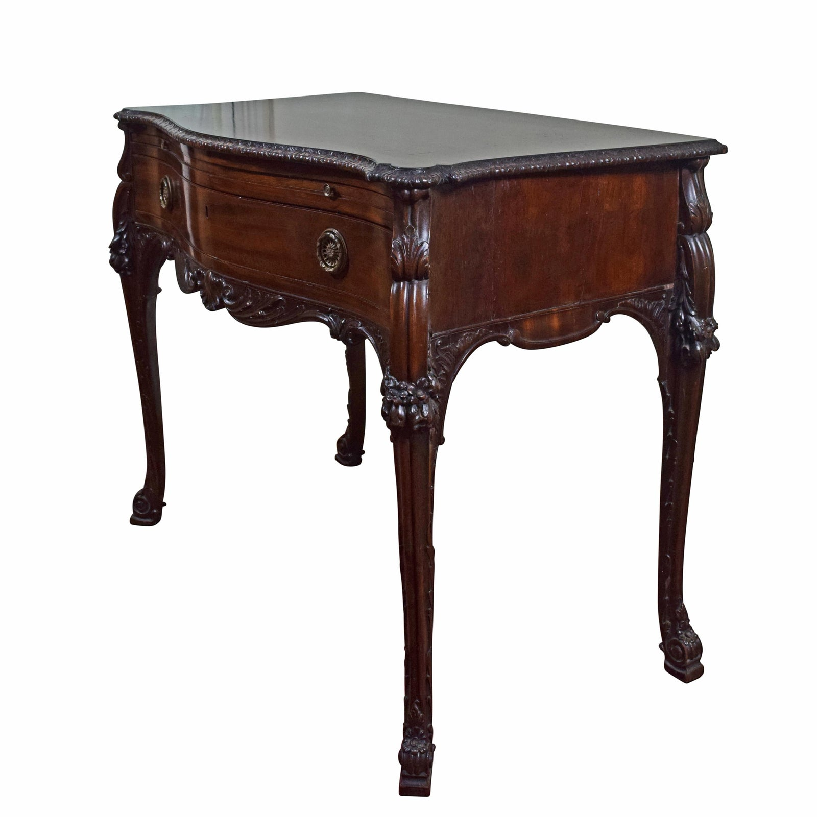 A George III Serpentine Mahogany Side Table