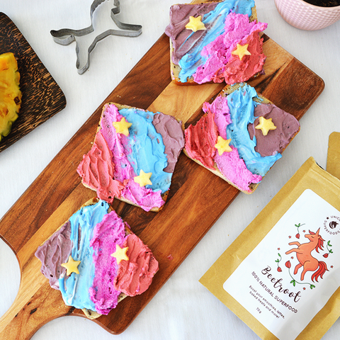 Rainbow toast - Unicorn Superfoods