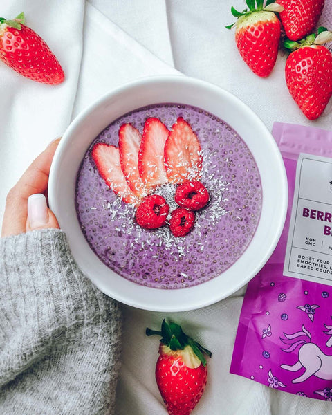 berrylicious healthy vegan chia pudding