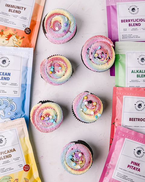 vegan colourful and healthy cupcakes