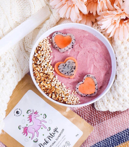 red dragon fruit smoothie
