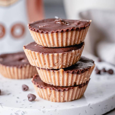 protein caramel fudge cups