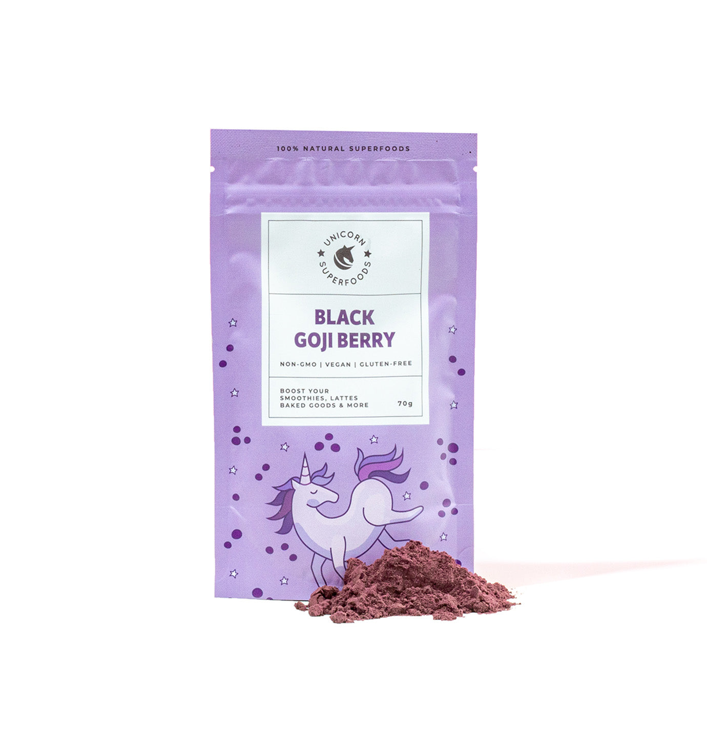 black goji berry powder