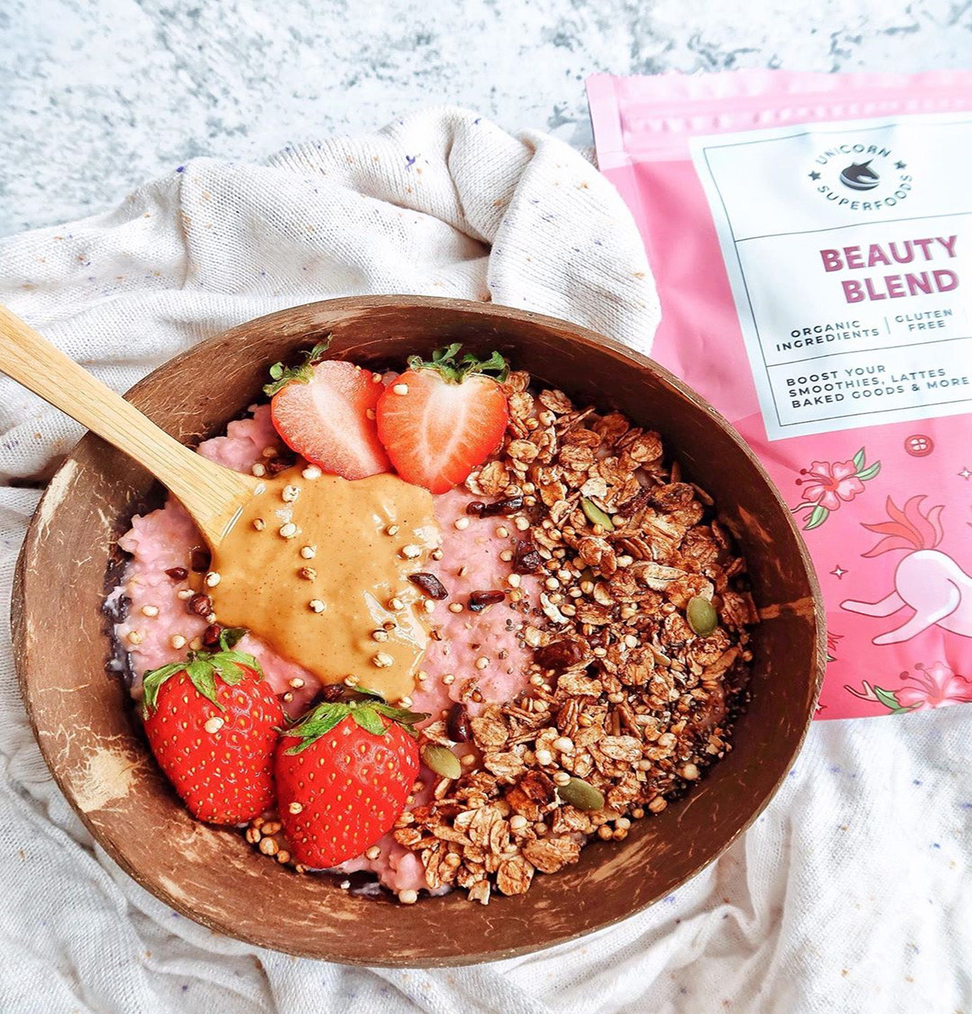 beauty blend oatmeal bowl