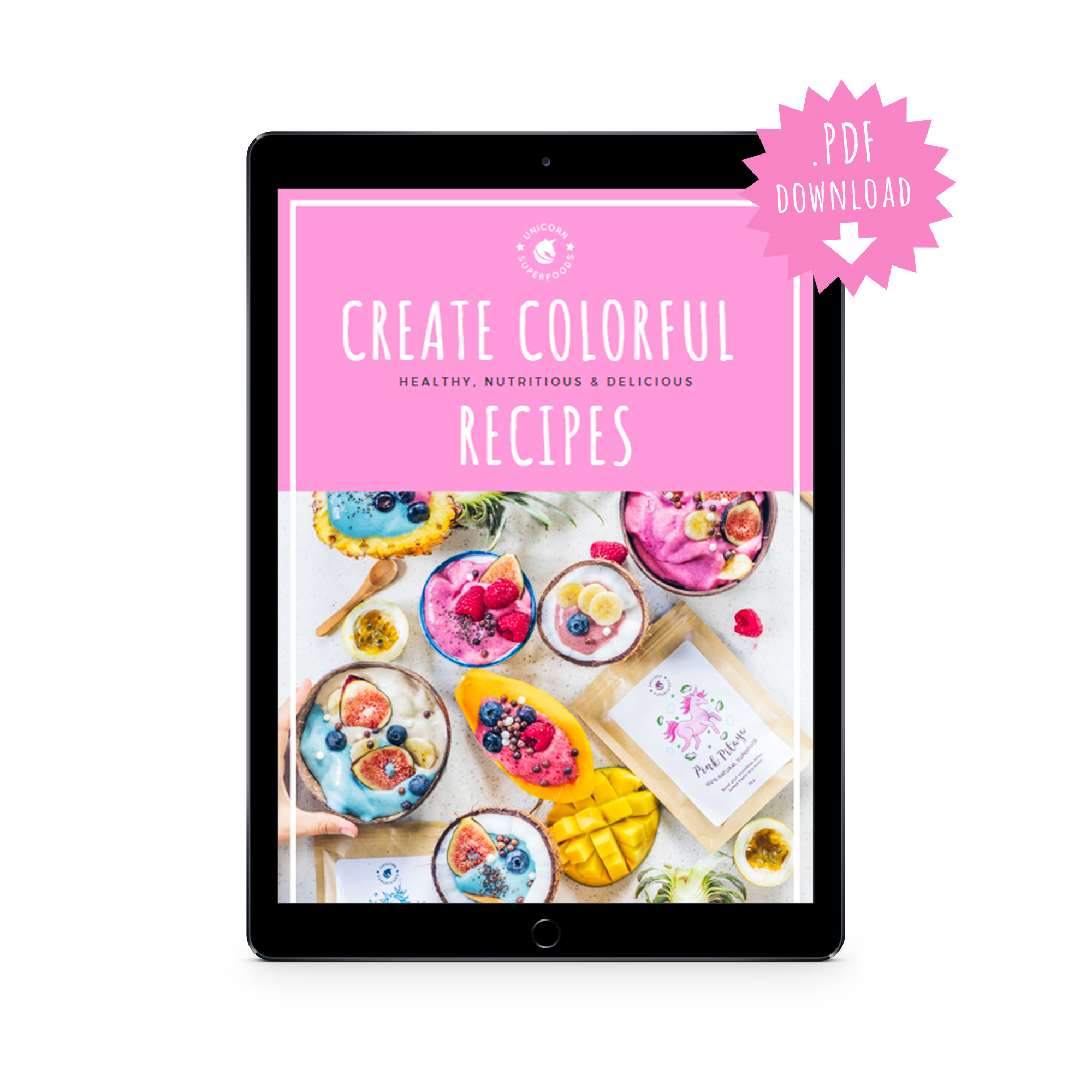 colorful recipe ebook
