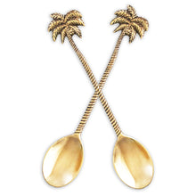 palm tree gold spoon
