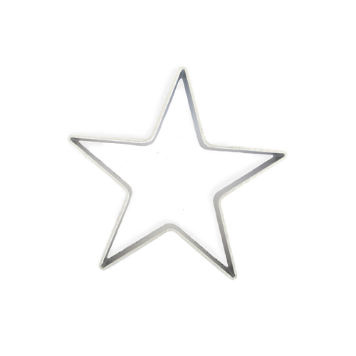 star cookie and fruit cutter