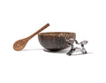eco friendly coconut bowl and spoon