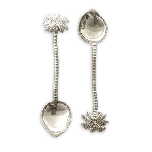 silver palm tree spoons