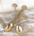 gold shell spoons