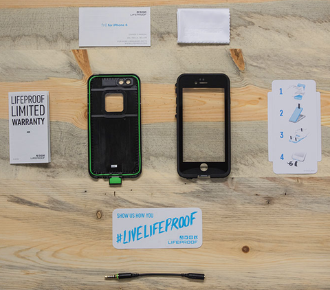 lifeproof fre iphone 6/6s what's inside the box