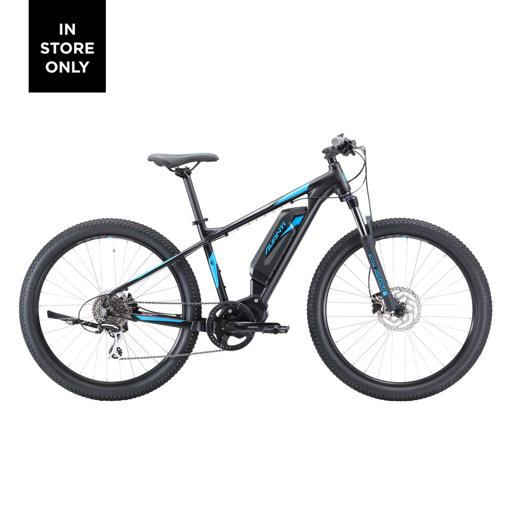 2021 Avanti Montari E Sport Matt Black Blue eBike - Pitcrew.nz